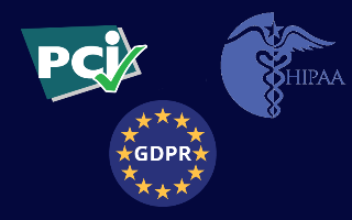 Get GDPR, PCI and HIPAA compliant