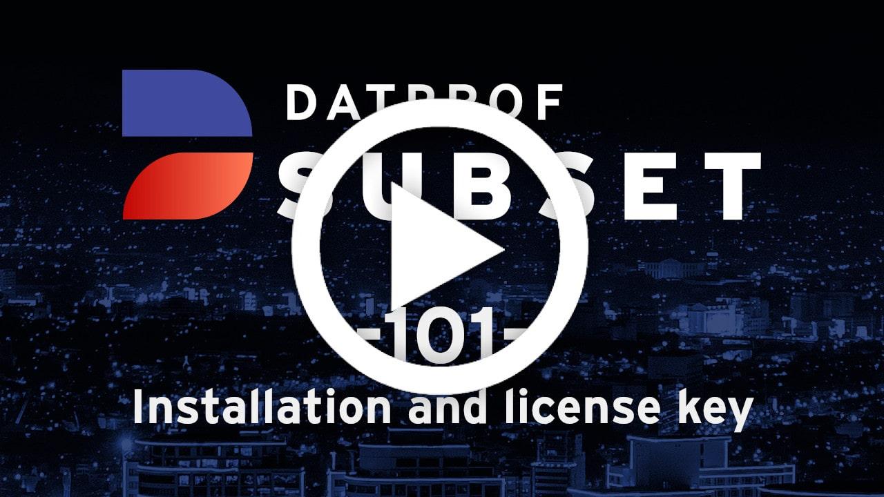 Trainingvideo 101 DATPROF Subset