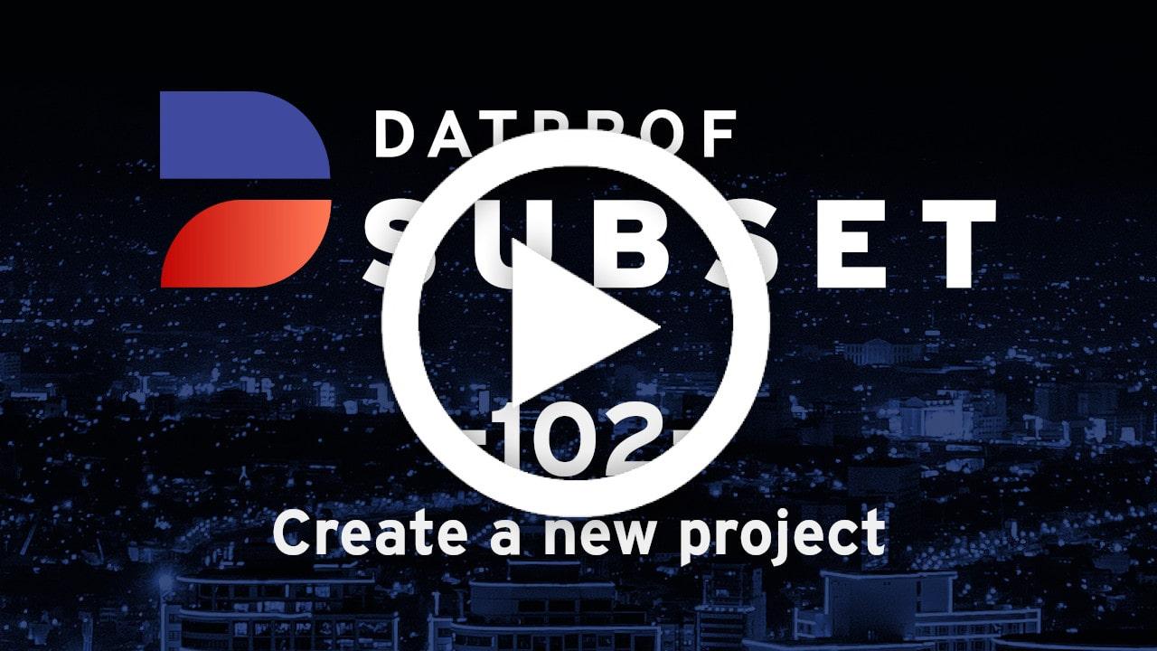 Trainingvideo 102 DATPROF Subset