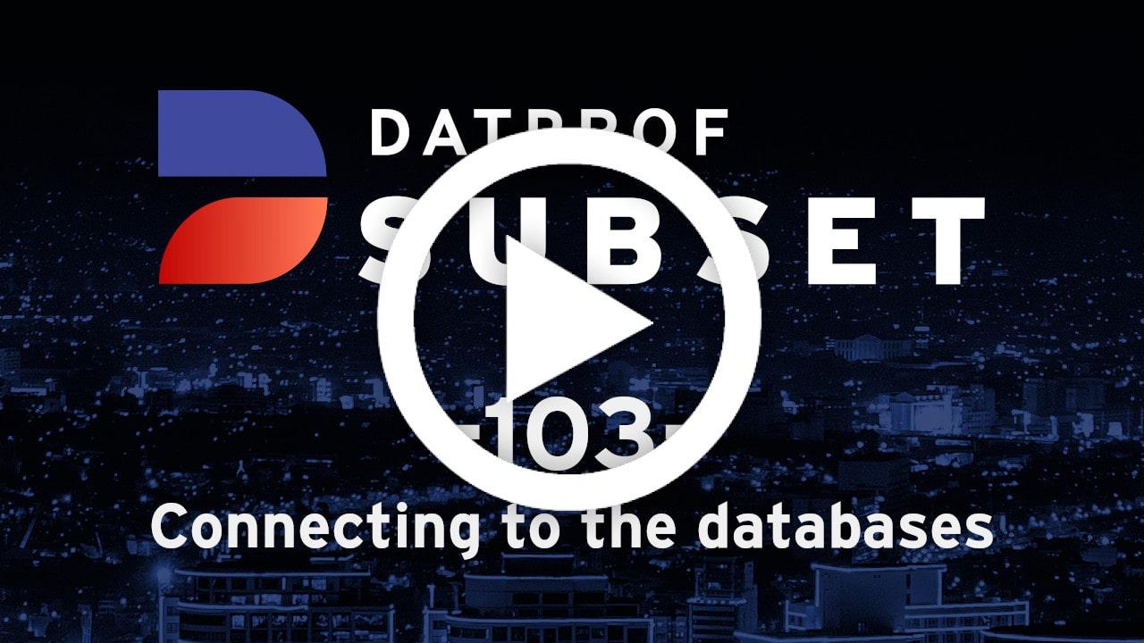 Trainingvideo 103 DATPROF Subset