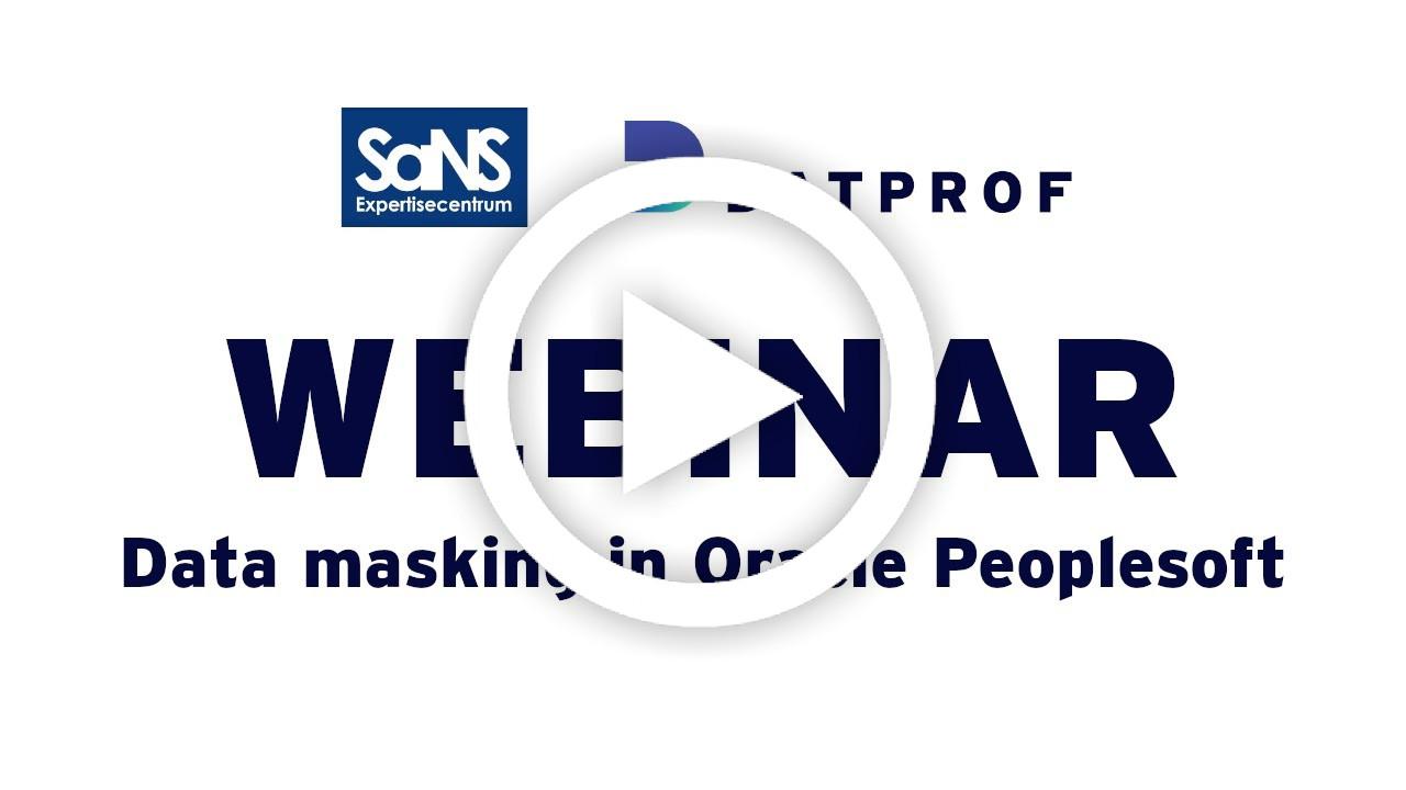 Webinar data masking in Oracle Peoplesoft