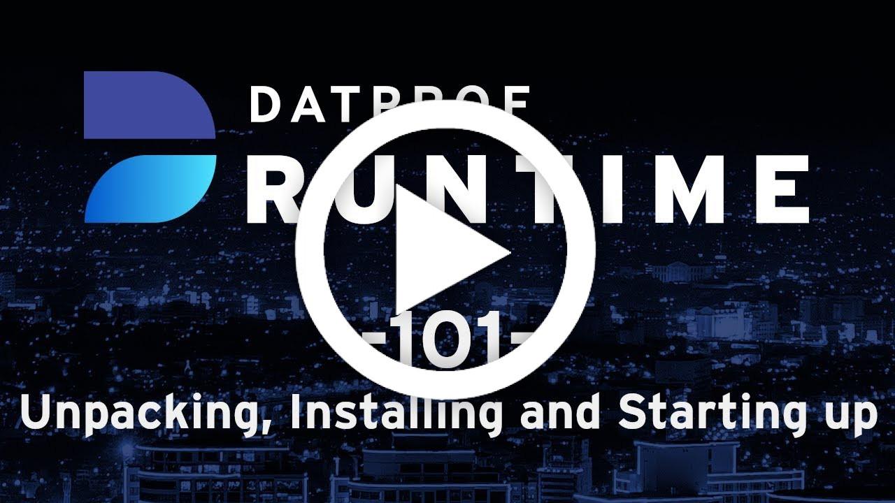 Trainingvideo 101 DATPROF Runtime
