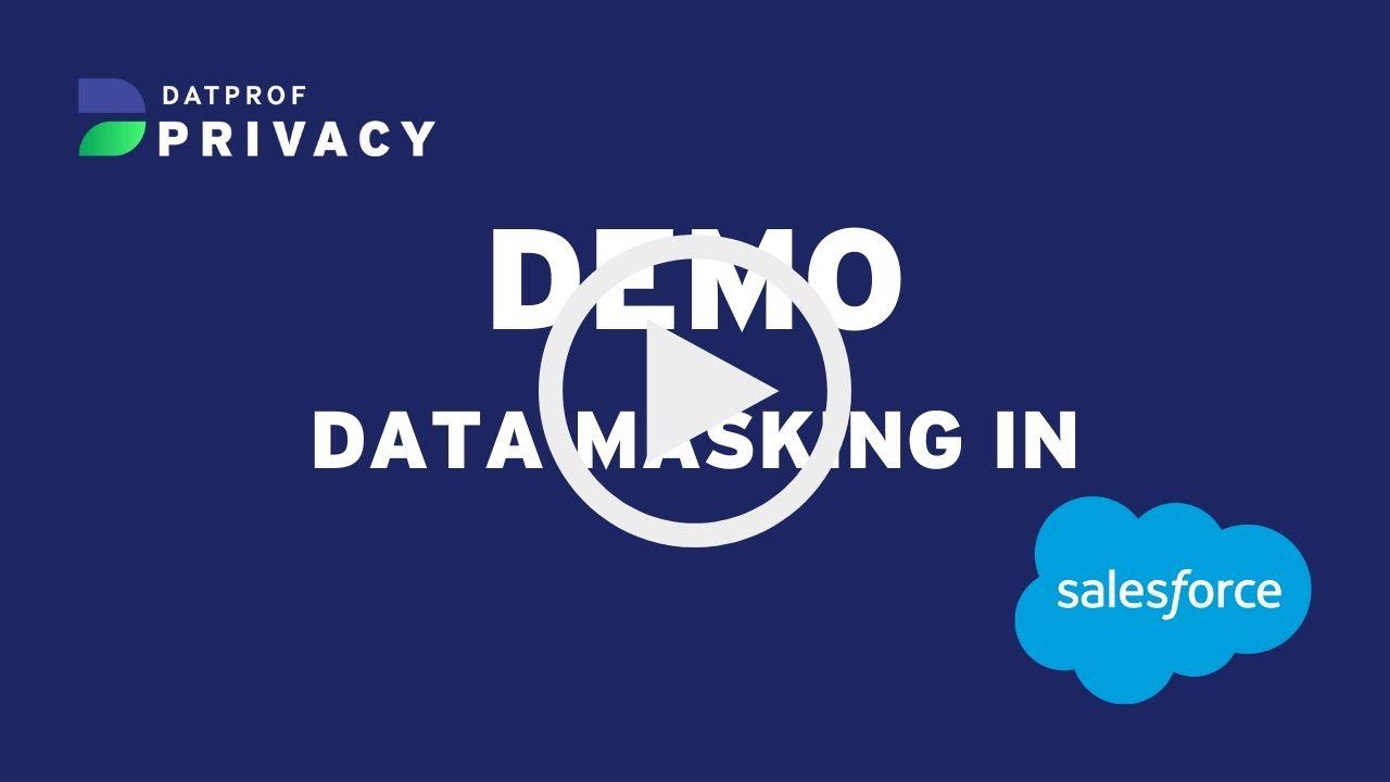 Demo data masking in salesforce